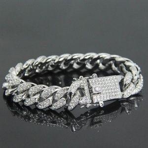 Men's Cuban Link White Gold Diamond Bracelet I CZ